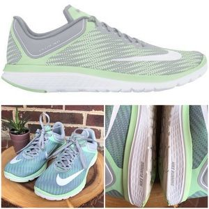 Nike FS LITE Run 4 6.5 Gray Mint Green